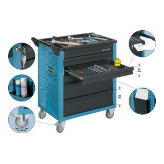HAZET Werkstattwagen Assistent mit Sortiment 177-6/133 ∙ 133-teilig