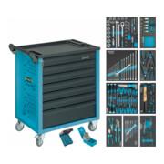 HAZET Werkstattwagen Assistent mit Sortiment 177-7/217 Schubladen flach: 6x 80x527x348 mm Schubladen hoch: 1x 165x527x348 mm Anzahl Werkzeuge: 217