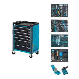 HAZET Werkstattwagen Assistent mit Sortiment 179-7/220 Schubladen flach: 5x 80x527x398 mm Schubladen hoch: 2x 165x527x398 mm Anzahl Werkzeuge: 220