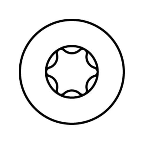 HECO-TOPIX-plus Glasleistenschraube, T-Drive, TG, A2K