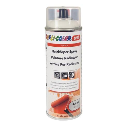 Heizkörperlackspray reinweiss seidenglänzend RAL 9010 400 ml Spraydose