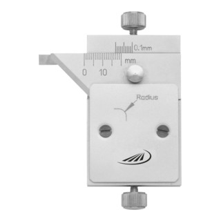 Helios Preisser Radiusmessgerät mit Messschiene 45°