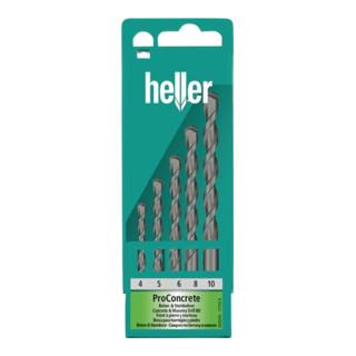 Heller Betonbohrer-Satz mit Stein und Stahlbohrer 5-teilig 4-10mm