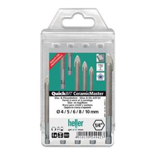 Heller Glasbohrer-CeramicMaster-Satz 5-teilig 4-10mm