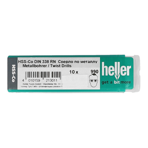 Heller HSS-Co Edelstahlb.DIN 338 9,5 mm