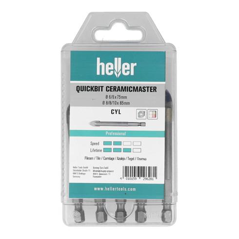 Heller QuickBit CeramicMaster, set 5-teilig Durchmesser 6/6/8/8/10 mm