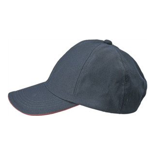 Herren-Cap Gr.59/60 marine/schwarz/rot 65%PES/35%CO
