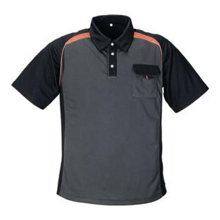 Terratrend Herrenpoloshirt CoolDry dunkelgrau/schwarz/orange