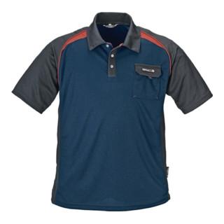 Terratrend Herrenpoloshirt mit Brusttasche marine/schwarz/rot
