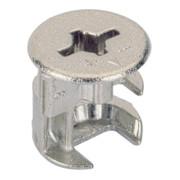 Hettich Exzenter-Verbinder Rastex 15 / 071950 für Fachboden 19mm Zinkdruckguss vernickelt