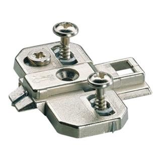 Hettich Kreuzplatte Sys.9000 Intermat Zinkdruckg.vern.8mm vormont.holzschr.