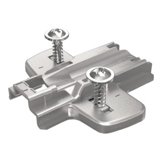 Hettich Montageplatte für Eck- und Mittelwandanschläge Stahl vernickelt