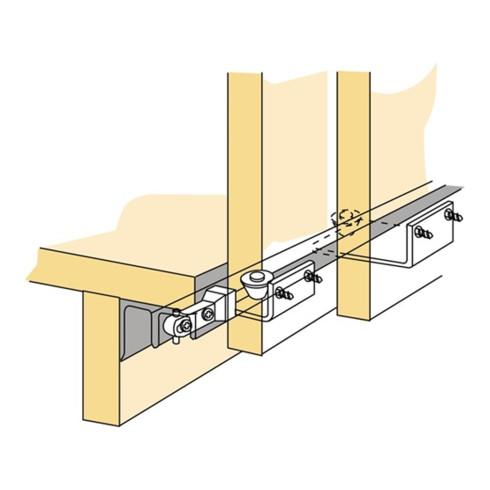 Hettich Schiebetürbeschlag STB 11 3-türig Komplett-Set DIN L/R