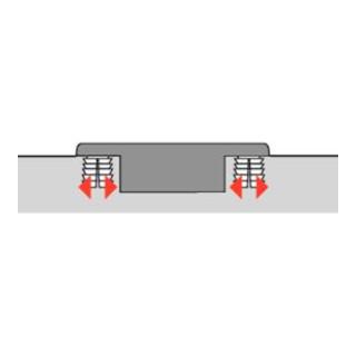 Hettich Sensys Weitwinkelscharnier, mit Null-Einsprung, mit integrierter Dämpfung Sensys 8657i, vernickelt, vorliegend, Öffnungswinkel 165 Grad, Bohrbild TH 52 x 5,5 mm, Schnellmontage Flash, Durchmesser  10 x
