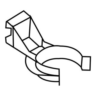 Hettich Sockelblendenhalter m. Clip Ku. schwarz ab 70mm z. Anschr.