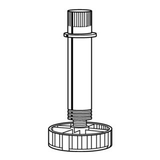 Hettich Sockelverstellfuß 061852 Ku.schwarz 130mm Bereich 119-155mm