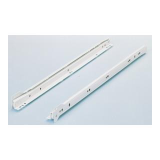 Blanc Longueur nominale comprise 400 mm Hettich teilauszug FR 402 M Stop Control Sta pulverbesch