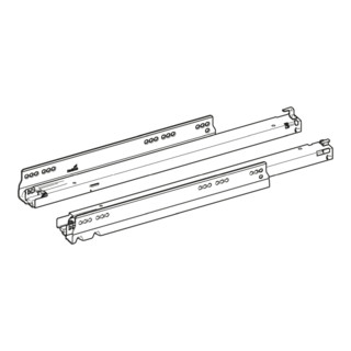 Hettich Vollauszug Actro YOU XL Belastbarkeit 70 kg, Länge 500 mm, links und rechts