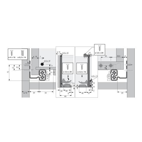 Hettich Vollauszug Quadro-6 Silent System Stahl verzinkt