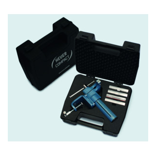 Heuer Compact Kofferset mit Schraubstock, Tischklammer + Schutzbacken Typ P, N, F und G