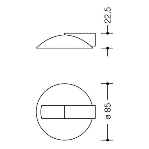HEWI Bodentürpuffer 625 XC D.85mm H.22,5mm VA XC pol.Dübelmontage