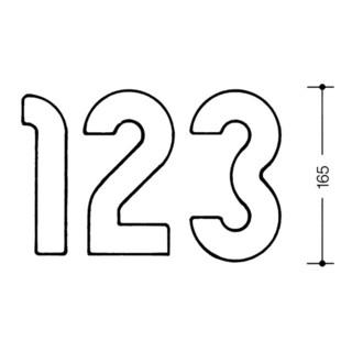 HEWI Hausnummer Ziffer 1 Spezial-Polyamid 90 tiefschwarz 165mm D.33mm