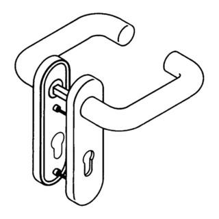 HEWI Kurzschildgarnitur 111R01.110 97 Ku.97 PZ Drückergarnitur