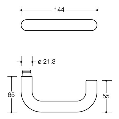 HEWI Rosettengrt.111XAB01.130 VA XA rd.PZ DIN L/R D/D