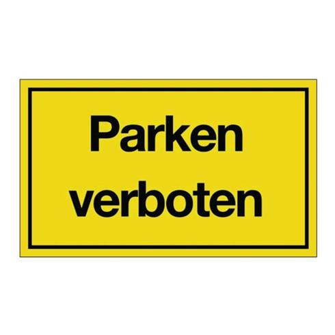 Hinweiszeichen Parken verboten L250xB150mm gelb schwarz Ku.