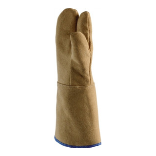 Hitzehandschuhe L.30cm max.800Grad/kurzfristig PBI-Gewebe Jutec 3-Finger