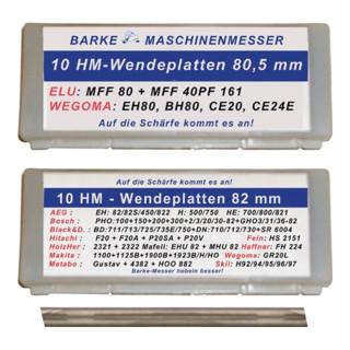 HM Wendemesser L.82,0mm AEG,Bosch,Hitachi,Mafell,Makita,Metabo BARKE