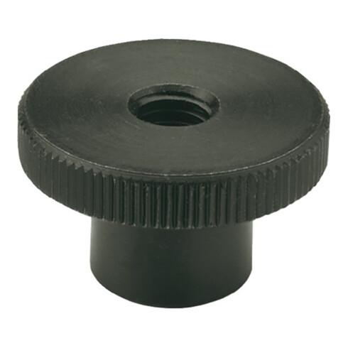 Hohe Rändelmutter DIN466 d1 M 8mm d2 30mm STA brün. Ganter