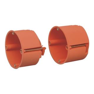 Hohlwandschalterdose D.68mm 61 (tief)mm orangePP Schraubenabst.60mm S.7-35mm