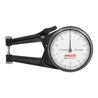 HOLEX Außen-Schnelltaster mit Uhr 0-10 mm