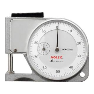 HOLEX Dickenschnellmesser mit Abhebetaste 0-10 mm