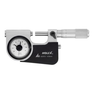 HOLEX Feinzeiger-Bügelmessschraube 0-25 mm