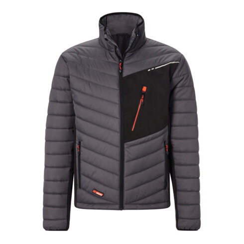 Holex Hybrid-Jacke, dunkelgrau / schwarz / rot, Unisex-Größe: 2XL