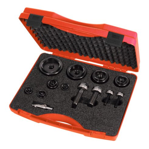 """HOLEX Rund-Blechlocher-Sortiment """"UNF"""", ⌀ 16,2 − 63,5 mm, im Kunststoffkoffer"""