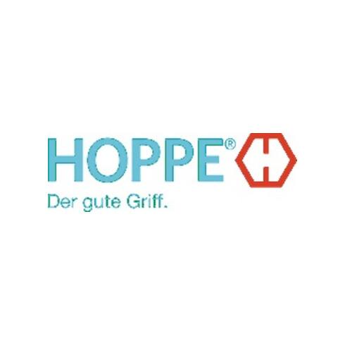 Hoppe Rosettengrt.Stock.1140/42KV/42KVS Alu.F1 rd.OB DIN L/R D/D