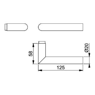 Hoppe Türdrückerlochteil Ams.E1400Z VA F69 8mm DIN L/R