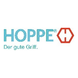 Hoppe Türdrückerpaar Frankfurt 117L Alu.F1 o.Rosetten VK 8mm