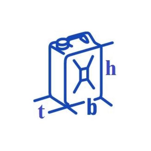 Hünersdorff Doppelkanister PROFI 6+3 L, HD-PE natur, mit UN-Zulassung, Zubehör schwarz