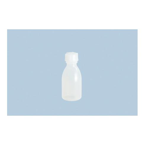Hünersdorff Enghalsflasche 100 ml, LD-PE naturfarben, rund
