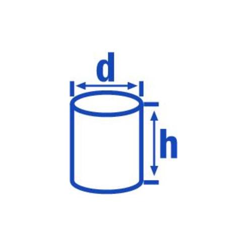 Hünersdorff Enghalsflasche 50 ml, LD-PE naturfarben, rund