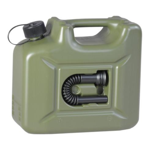 Hünersdorff Kraftstoff-Kanister PROFI (UN) 10 L oliv,UN-Zulassung,HDPE,schwarzes Zubehör