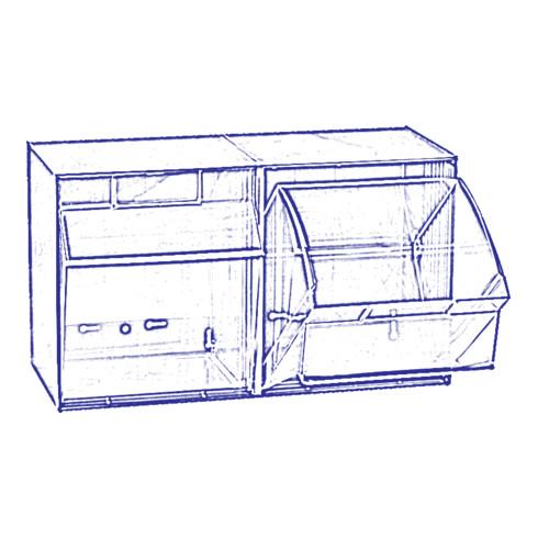 Hünersdorff Lagersystem MultiStore Riegel Nr. 2 hochschlagfestem Kunststoff, lichtgrau