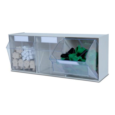 Hünersdorff Lagersystem MultiStore Riegel Nr. 3 hochschlagfestem Kunststoff, lichtgrau