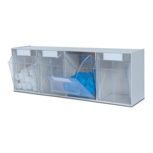 Hünersdorff Lagersystem MultiStore Riegel Nr. 4 hochschlagfestem Kunststoff, lichtgrau