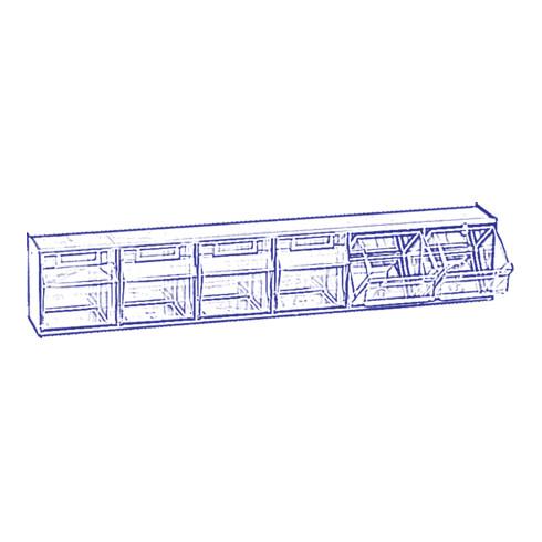 Hünersdorff Lagersystem MultiStore Riegel Nr. 6 hochschlagfestem Kunststoff, lichtgrau