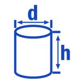 Hünersdorff Messkanne 5.000 ml, PP, 2 Skalen geschlossener Griff, transparent